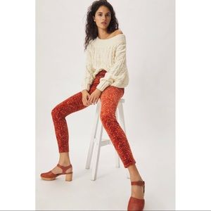 Anthropologie Pilcro High-Rise Button-Fly Skinny Corduroy Pants